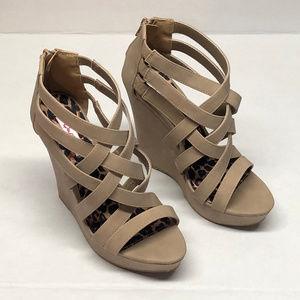 Qupid wedge heeled shoes
